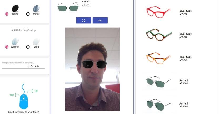 essayage de lunette virtuel