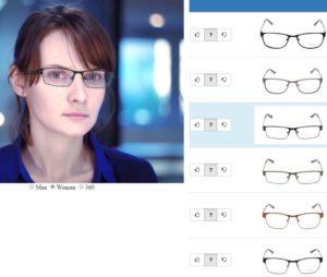 essayage virtuel de lunettes