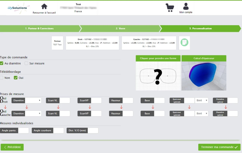 Optical Web Shop example