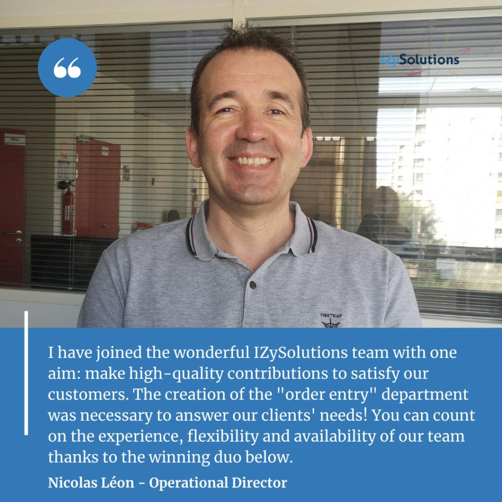 Nicolas Léon - Operational Director of our optical catalog management team